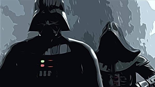 Star Wars Poster featuring the digital art Star Wars Galaxies Art by Larry Jones