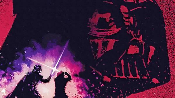 Star Wars Boba Fett Poster featuring the digital art Star Wars On Art by Larry Jones