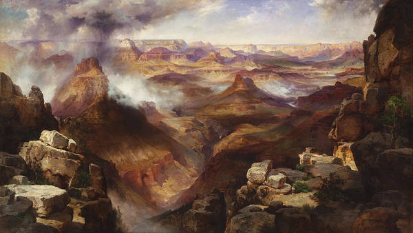 Painting Poster featuring the painting Grand Canyon Of The Colorado River by Mountain Dreams
