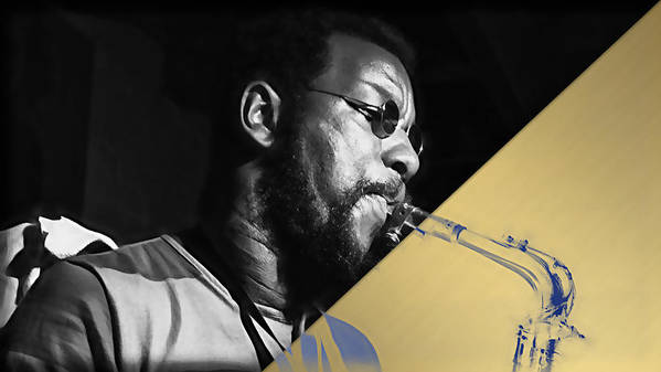 Ornette Coleman Poster featuring the mixed media Ornette Coleman Collection by Marvin Blaine