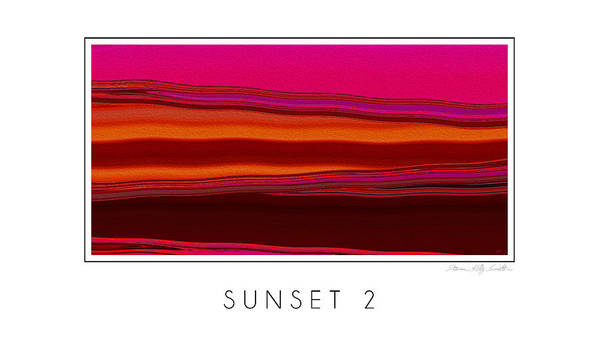 Poster featuring the digital art Sunset 2 by Steven Kelly Smith