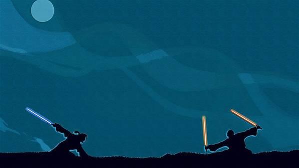 Jedi Star Wars Poster featuring the digital art Original Star Wars Art by Larry Jones