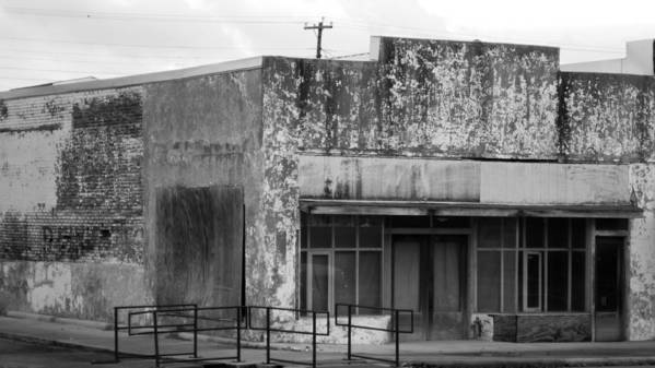 Vanishing Texas Poster featuring the photograph abandoned store in black and white #VanishingTexas Rosebud by Trace Ready