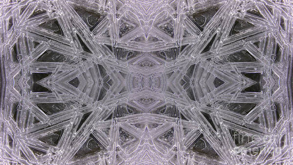 Ice Poster featuring the photograph Angles In Ice On Monadnock - A1 by Larry Davis Custom Photography