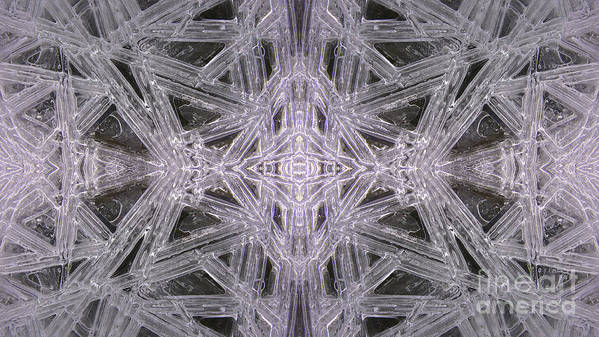 Ice Poster featuring the photograph Angles In Ice On Monadnock - A4 by Larry Davis Custom Photography