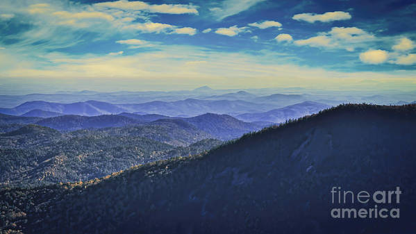 Scenic Poster featuring the photograph Appalachia Blue by Janice Pariza
