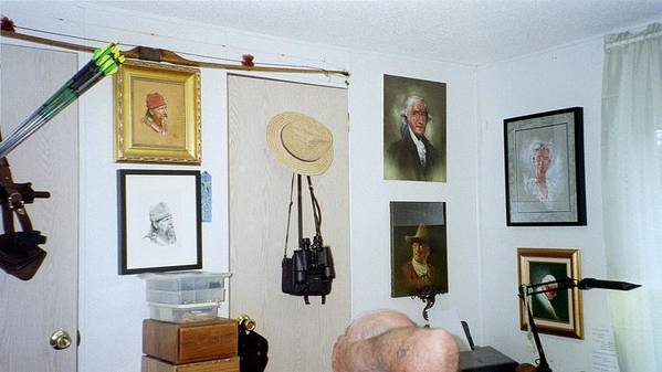 Studio Poster featuring the painting Archery And Art And Camera And Historypart Of My Studio by Mahto Hogue