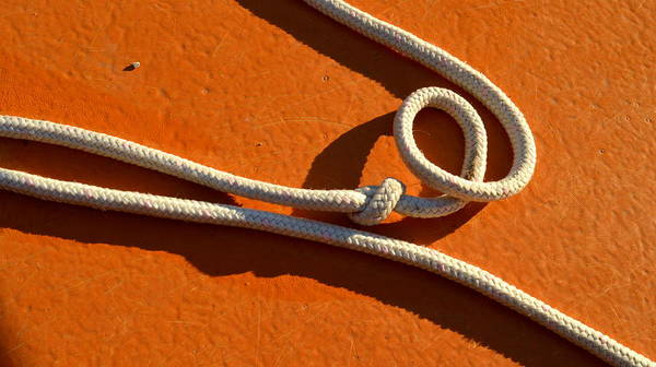 Rope Poster featuring the photograph Boatrope by Peter Pier
