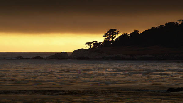 Sunset Poster featuring the photograph Carmel Sunset by Cyril Matthews