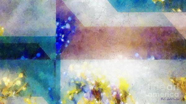Abstract Poster featuring the painting Celestial Navigation by RC DeWinter