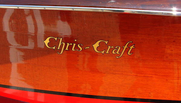 Logo Poster featuring the photograph Chris Craft Logo by Michelle Calkins