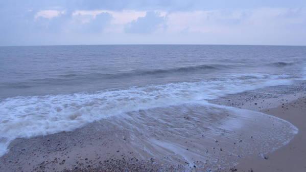 Dawn Poster featuring the photograph Corton Beach Dawn Ocean Waves 1 by Richard Griffin