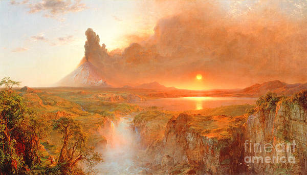 Cotopaxi Poster featuring the painting Cotopaxi by Frederic Edwin Church
