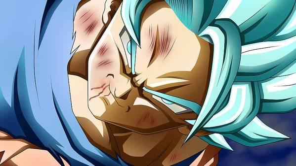 Goku New Form Poster featuring the digital art Dragon Ball Super - Goku by Babbal Kumar