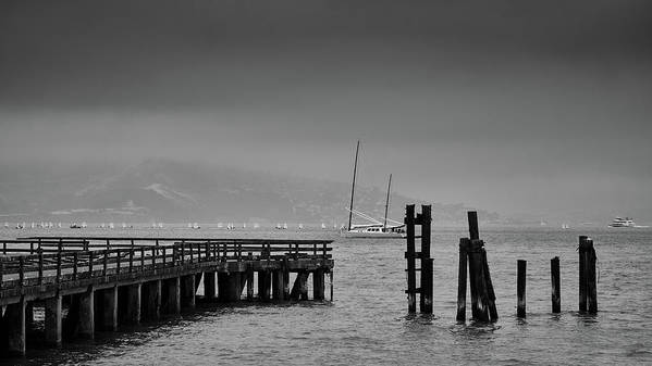 San Francisco Poster featuring the photograph Early Morning Fog In The San Francisco Bay by Rob Nicholson