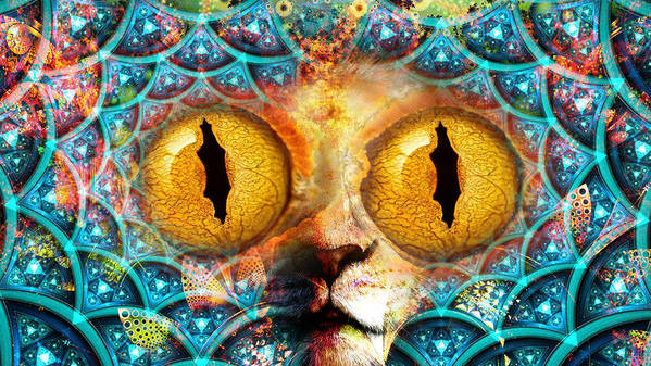 Poster featuring the painting Edwin. My Power Animal. by Maciej Mackiewicz