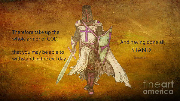 Ephesians 6 13 Armor Of God Poster By Beverly Guilliams