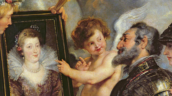 Rubens Poster featuring the painting Henri Iv Receiving The Portrait Of Marie De Medici by Rubens