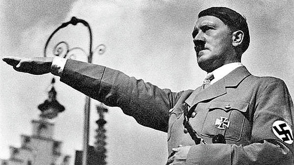 Hitler Giving Nazi Salute Number Two Party Congress Church