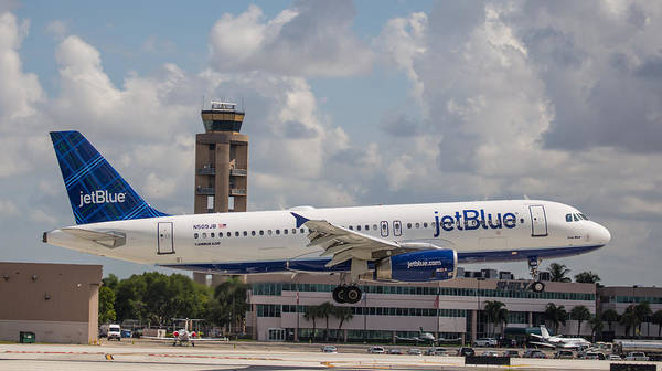 Airline Poster featuring the photograph Jetblue Fll by Dart and Suze Humeston
