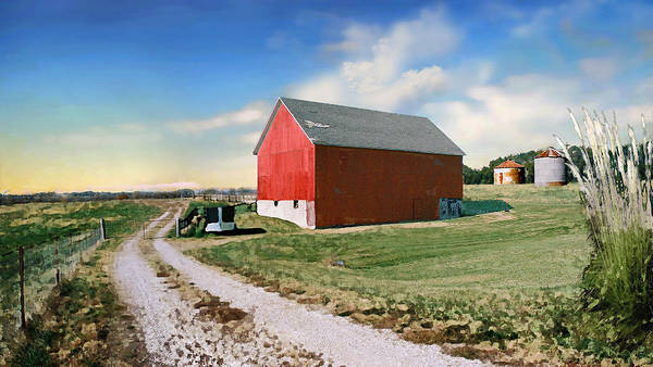 Barn Poster featuring the photograph Kansas Landscape II by Steve Karol