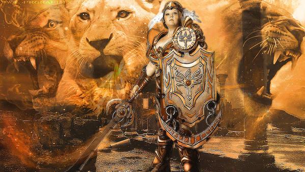 Warrior Poster featuring the photograph Leona Lioness Warrior by Gela Ghaderi