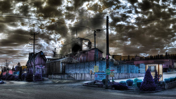 Digital Fantasy Poster featuring the photograph Lumber Mill Fantasy by Lee Santa