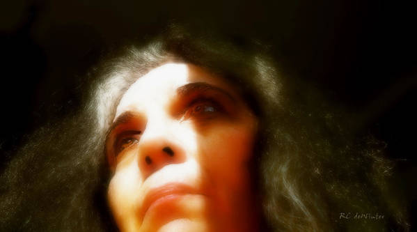 Portrait Poster featuring the painting Maid Of Constant Sorrow  Self-portrait by RC DeWinter