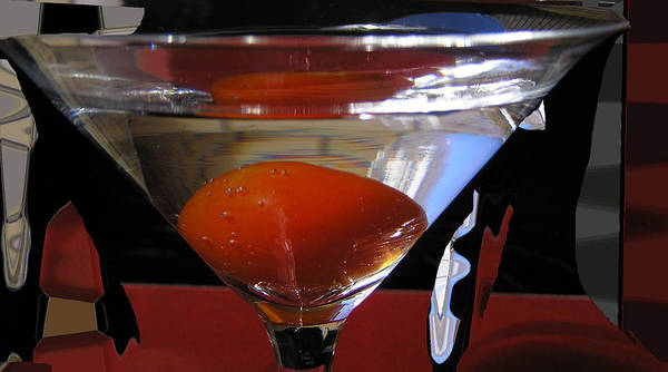 Still Life Poster featuring the photograph Martini Fantazy3 by Evguenia Men