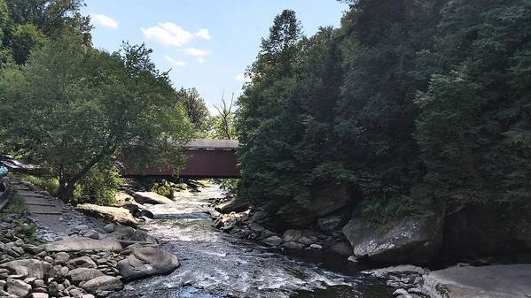 Mcconnell's Mills State Park Poster featuring the photograph Covered Bridge by Kimberly W