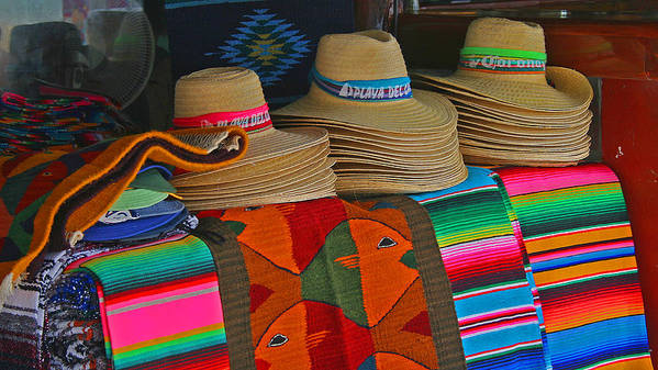 Colorful Poster featuring the photograph Mexican Hat Dance by Gina Cormier