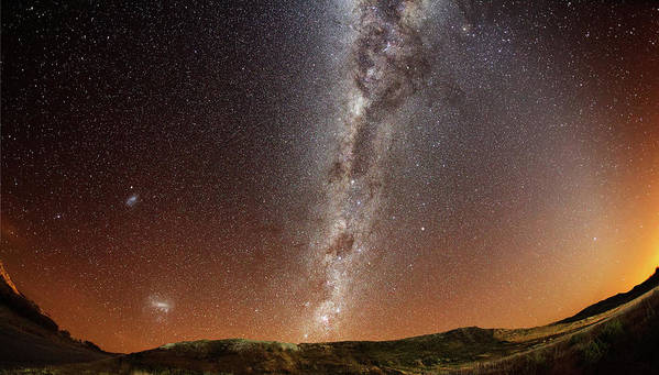 Horizontal Poster featuring the photograph Milky Way by (c) 2010 Luis Argerich