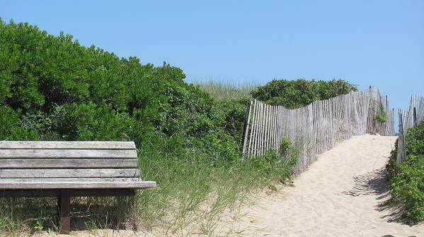 Relax Poster featuring the photograph Montauk Beach by Rose Hart