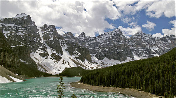 Moraine Lake Jasper National Park Landscape Photograph Canadian Rockies Poster