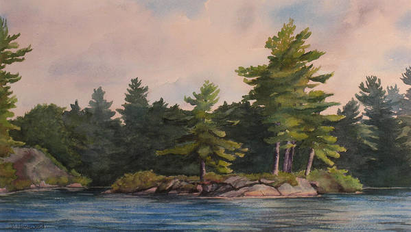 Island Poster featuring the painting Morning Light by Debbie Homewood