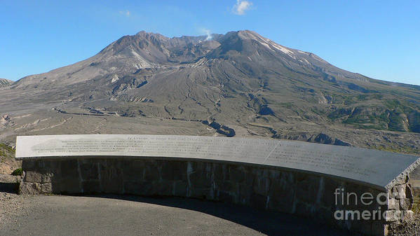 Volcano Poster featuring the photograph Mount St. Helen Memorial by Larry Keahey