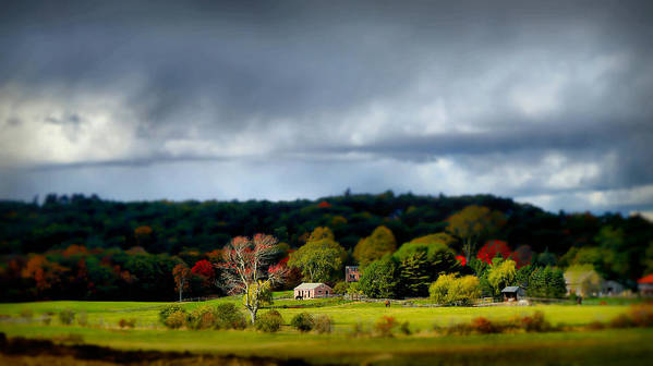 New England Poster featuring the photograph New England Countryside by Lilia D