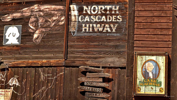 Signs Poster featuring the photograph North Cascade Hiway Signs by George Bostian