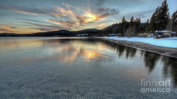North Lake Tahoe Poster featuring the photograph North Lake Tahoe Spring Sunset by Dustin K Ryan
