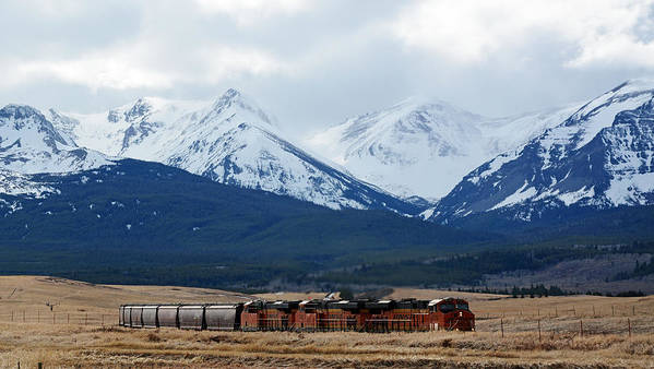 Bnsf Poster featuring the photograph On The Rocky Mountain Front by Whispering Peaks Photography
