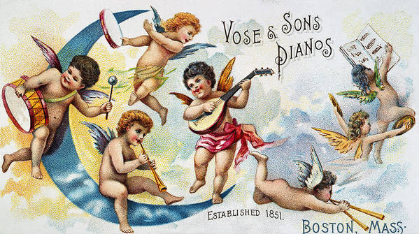 1880s Poster featuring the photograph Piano Trade Card, C1880 by Granger
