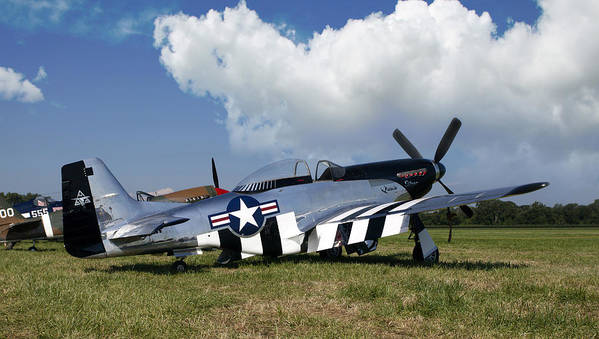 P-51 Poster featuring the photograph Quick Silver P-51 Color by Peter Chilelli