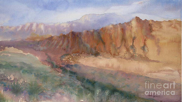 Sedopn Poster featuring the painting Sedona by Ann Cockerill