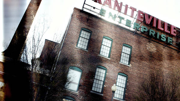 enterprise Mill Poster featuring the photograph Slit Scan 2 by Patrick Biestman