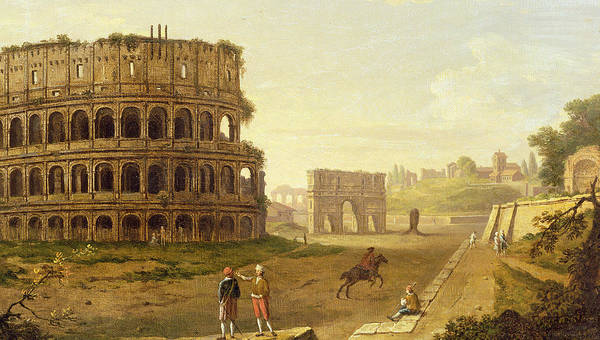 The Colosseum Poster featuring the painting The Colosseum by John Inigo Richards