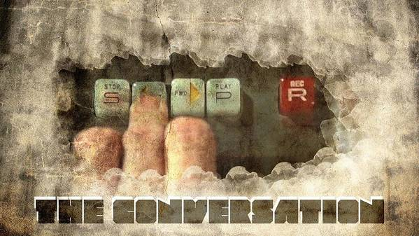 Conversation Poster featuring the digital art The Conversation by Andrea Barbieri