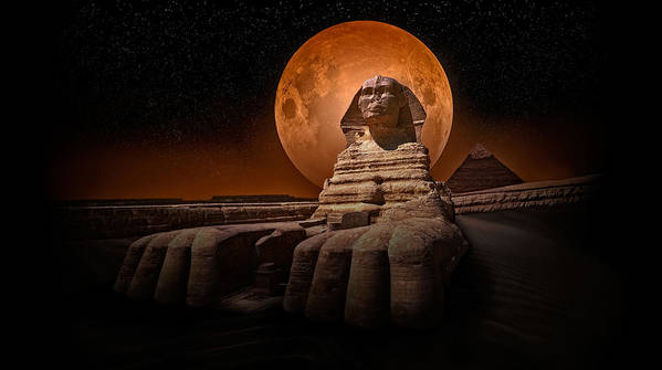 Sphinx Poster featuring the photograph The Sphinx by Nasser Osman