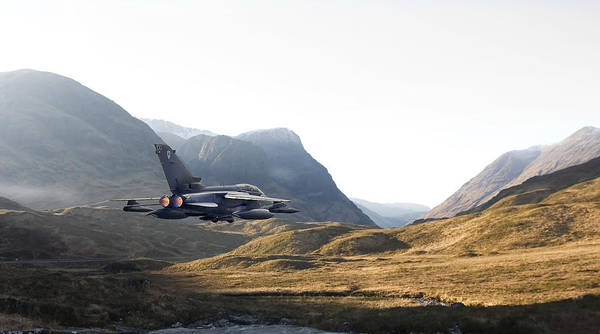 Tornado Jet Poster featuring the photograph Thunder In The Glen by Pat Speirs
