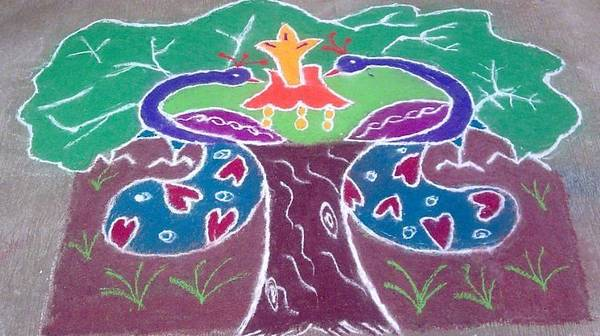 Most Viewed Picture Poster featuring the ceramic art Tree Design by Joni Mazumder