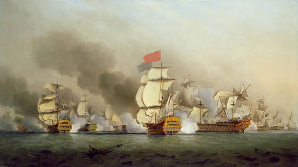Vice Poster featuring the painting Vice Admiral Sir George Anson's by Samuel Scott